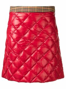 Moncler quilted mini skirt - Red