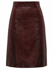 Prada matte nappa skirt - Red