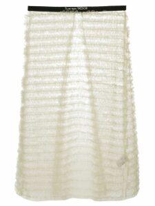 Tu es mon TRÉSOR tulle detachable midi skirt - White