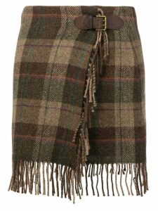 Polo Ralph Lauren plaid wrap skirt - Brown