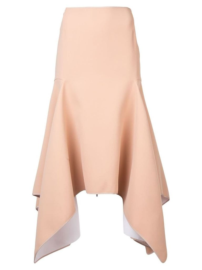 Maticevski high-waited asymmetric skirt - Neutrals