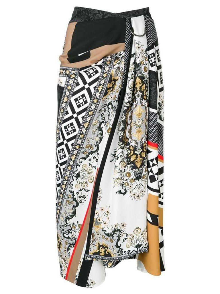 Mary Katrantzou abstract print skirt - Black
