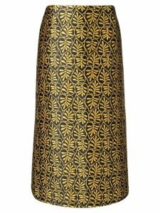 La Doublej jacquard pencil skirt - Black