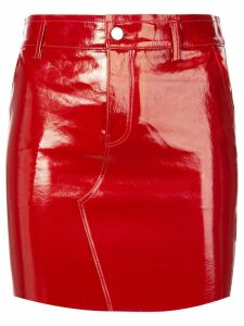 RtA short varnished skirt - Red