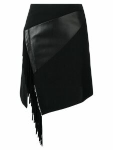 Barbara Bui side fringe fitted skirt - Black