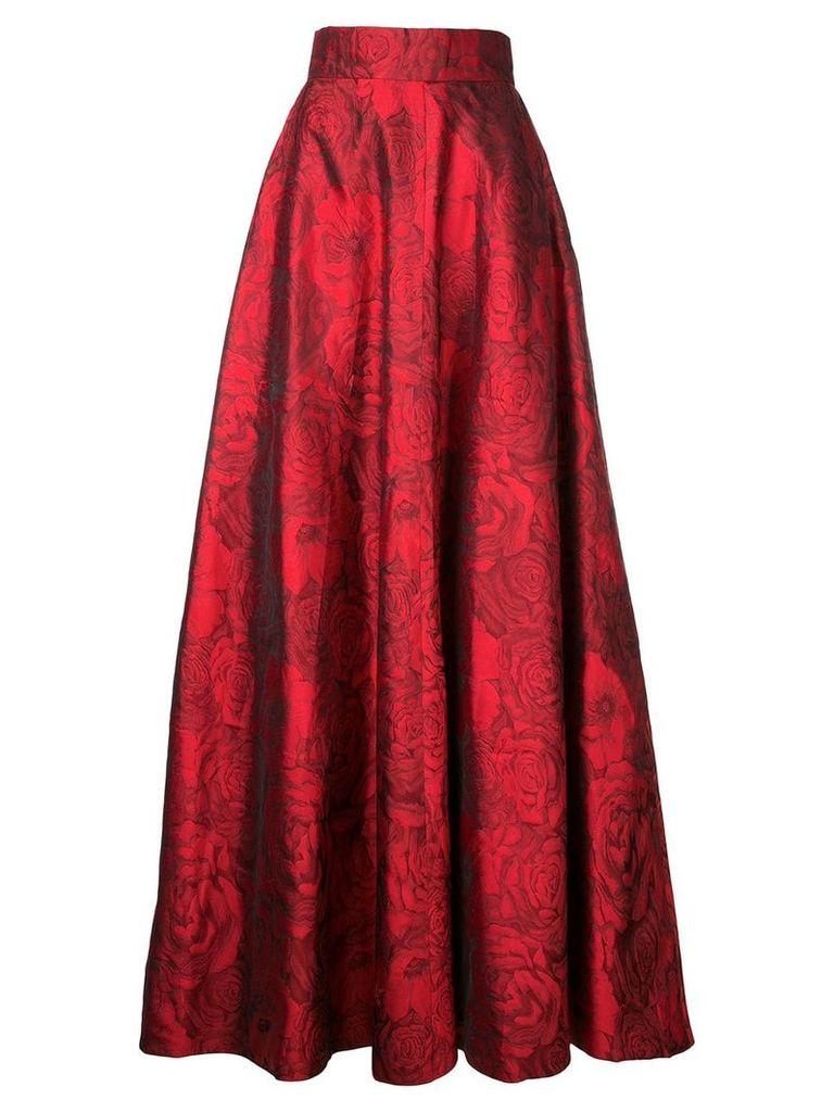 Bambah jacquard princess skirt - Red