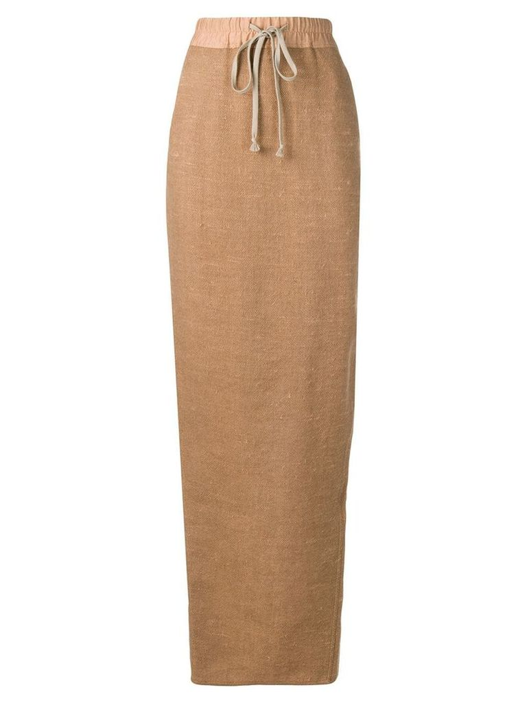 Rick Owens full high-waisted skirt - Neutrals