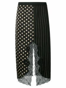 Antonio Marras printed asymmetric skirt - Black