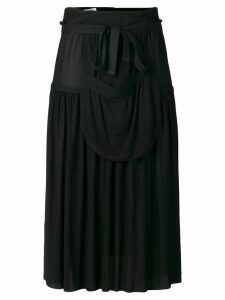 JW Anderson hoop skirt with sporran pocket - Black