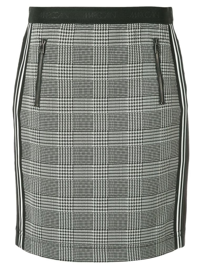 Marc Cain high waisted check skirt - Grey
