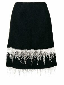 Calvin Klein 205W39nyc embroidered fringe midi skirt - Blue
