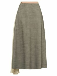 Prada draped insert skirt - Grey