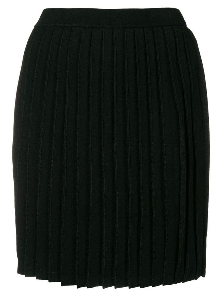 Emporio Armani fitted please skirt - Black