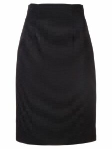 Versace textured pencil skirt - Black