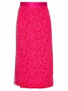 Michael Lo Sordo lace pencil skirt - Pink