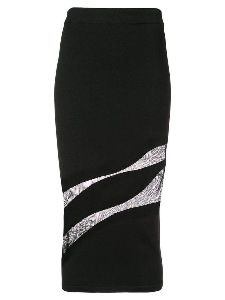 Cushnie cut out pencil skirt - Black