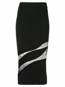 Cushnie cut out pencil skirt - Black