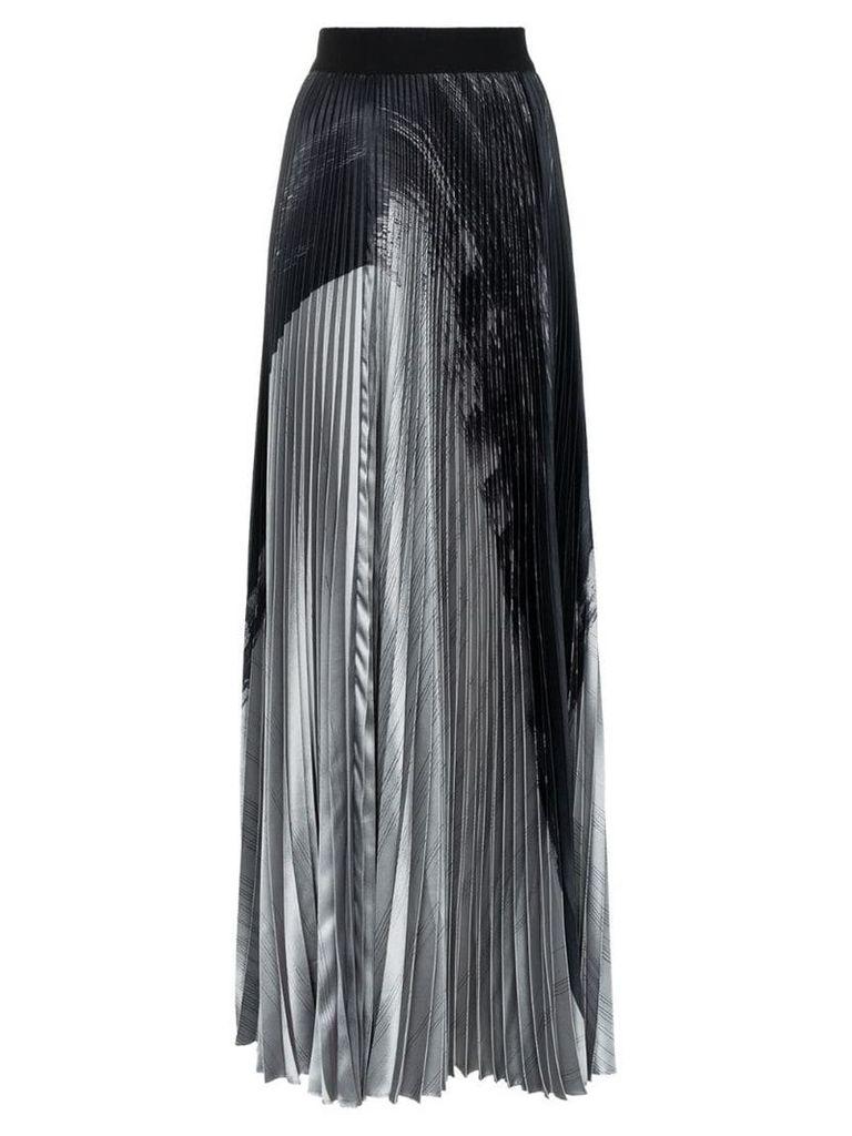 Poiret high-waisted pleated maxi skirt - Grey