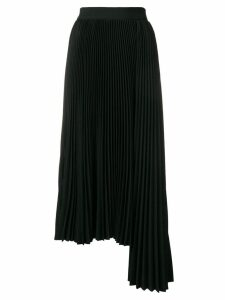 MSGM pleated asymmetric skirt - Black