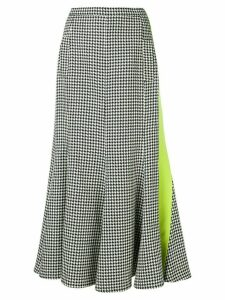Natasha Zinko houndstooth patterned pleated skirt - Black