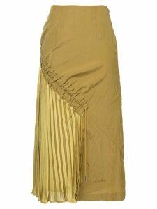 Muller Of Yoshiokubo side pleats skirt - Green