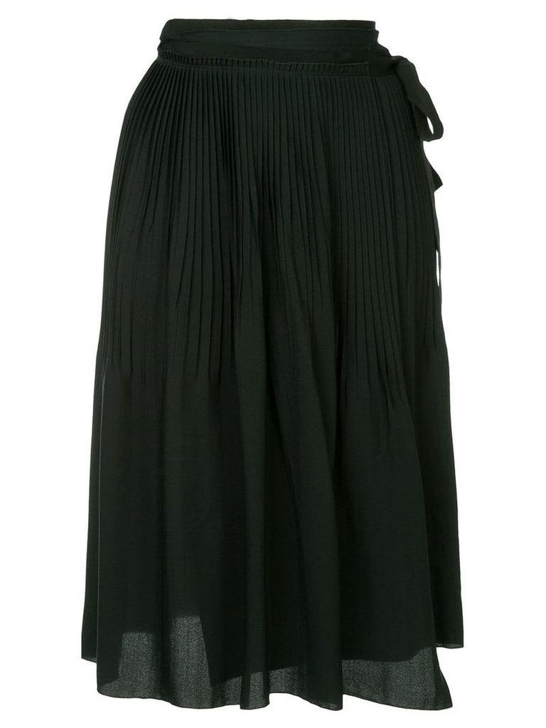 Jil Sander Navy tie Pleated Skirt - Black