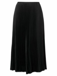 Blanca pleated midi skirt - Black
