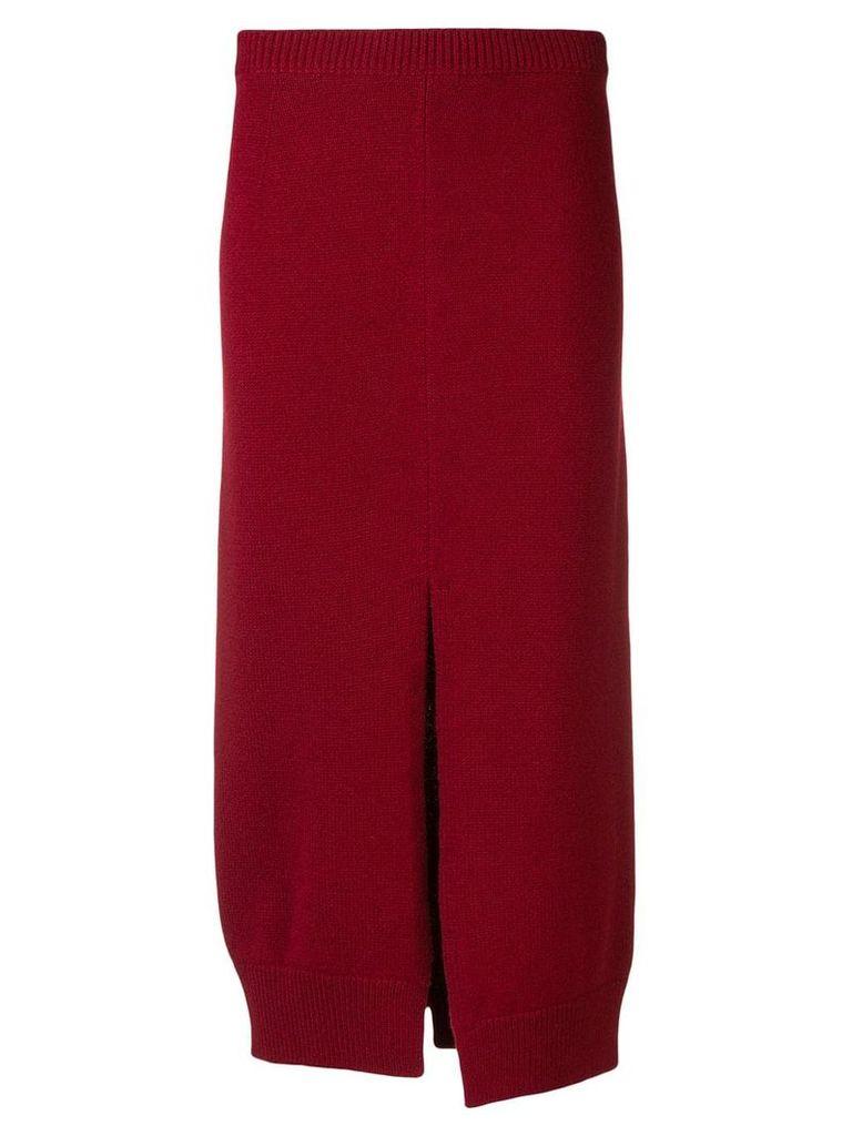 MRZ front split skirt - Red