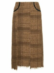 08Sircus midi tweed skirt - Brown