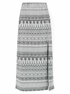 Framed Gipsy midi skirt - Grey