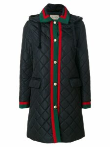 Gucci Web quilted coat - Blue