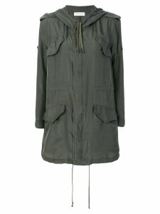 Faith Connexion short-sleeve parka coat - Green