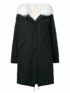 Yves Salomon Army fox fur parka - Black