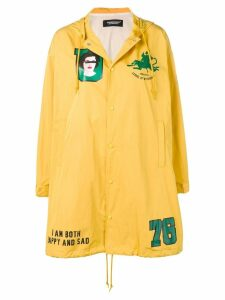 Undercover patch parka coat - Yellow