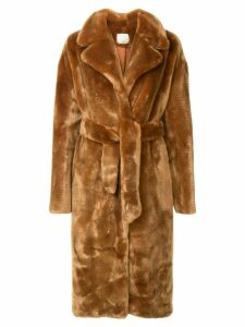 Tibi oversized trench coat - Brown