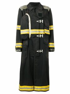 Calvin Klein 205W39nyc Fireman distressed coat - Black