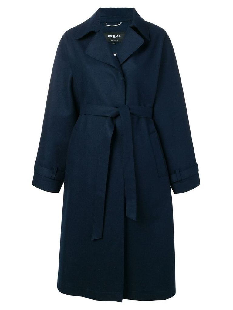 Rochas belted trench coat - Blue