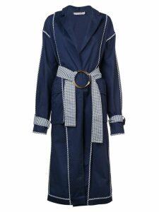 Silvia Tcherassi metal ring belted coat - Blue