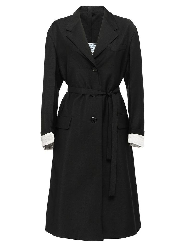 Prada belted trench coat - Black