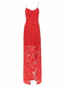 Tufi Duek lace long dress - Red