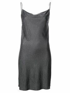 Fleur Du Mal short cowl-neck mini dress - Black