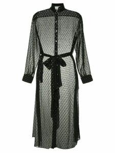 Osman dotted mesh dress - Black