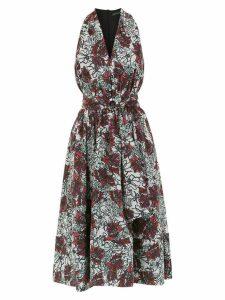 Andrea Marques printed v-neck dress - White