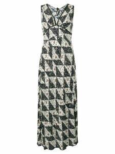 Alexa Chung Bias floral tile print dress - Black