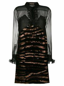 Bottega Veneta sheer sequined dress - Black