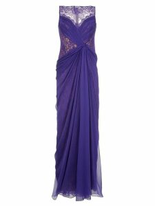 Tadashi Shoji lace detail gown - PURPLE