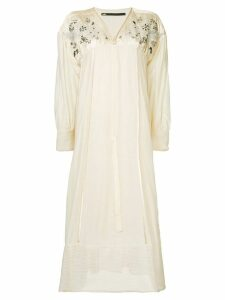 Muller Of Yoshiokubo embroidery long dress - Neutrals