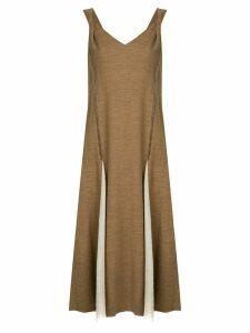 Muller Of Yoshiokubo Dry tweed dress - Brown