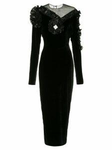 Alessandra Rich long velvet dress - Black