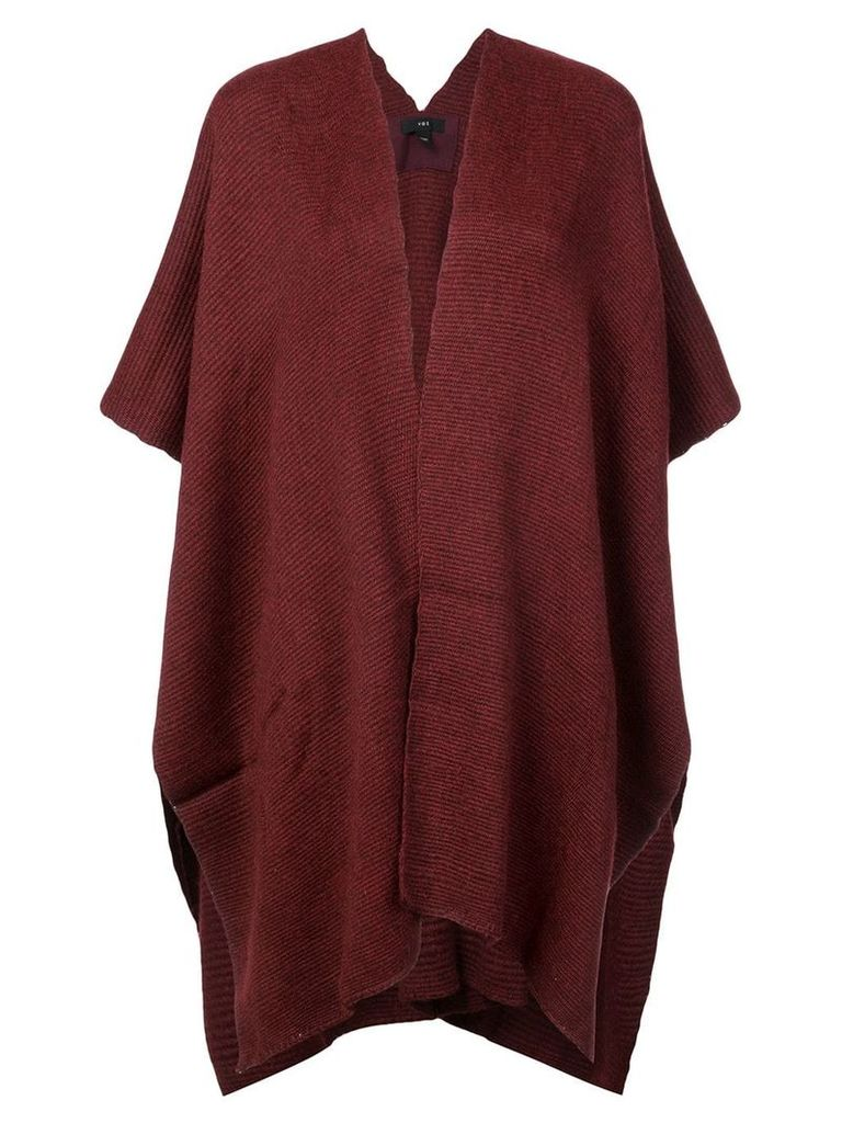 Voz hand-woven Poncho - Red